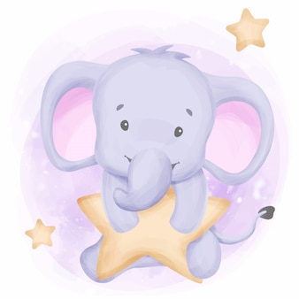 Sweet dreams elephant reach the stars