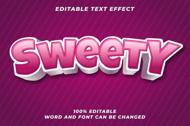 Sweety edytowalny efekt stylu tekstu