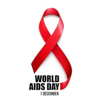 Świadomość pomocy. koncepcja światowego dnia aids. ilustracja wektorowa eps10