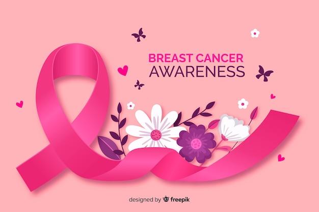Świadomość raka piersi z realistyczną wstążką