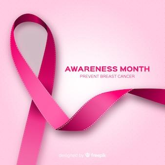 Świadomość raka piersi z realistycznym wyglądem