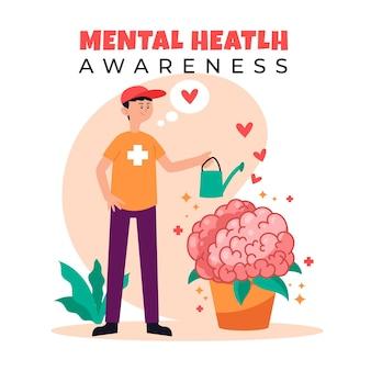 Świadomość zdrowia psychicznego dbająca o siebie