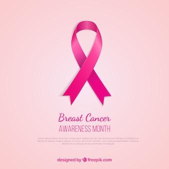 Świadomości raka piersi różowa wstążka