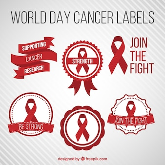 Świat etykiety dni raka