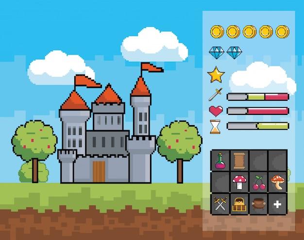 Świat gier zręcznościowych i scena pikseli