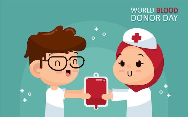 Świat krwi dawcy dzień ilustracja wektor