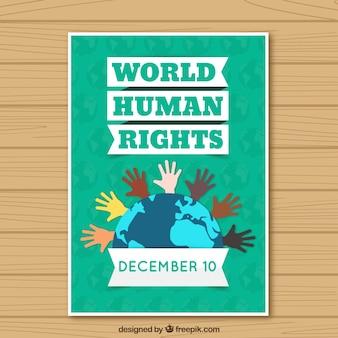Świat plakat praw człowieka