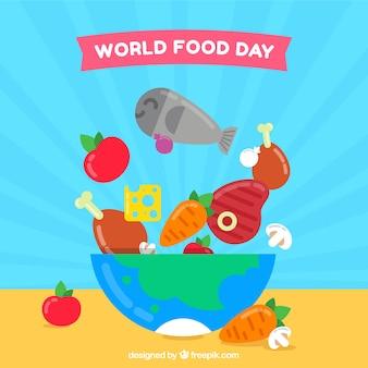 Świat tle żywności dzień