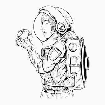 Świat w twojej dłoni / astronauta
