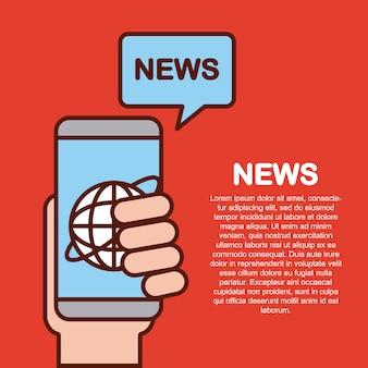 Świat wiadomości płaski