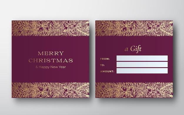 Świąteczna abstrakcyjna kartkasketch decoration