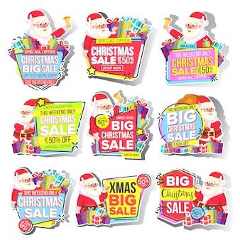 Świąteczna duża sprzedaż naklejki