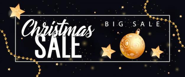 Świąteczna duża sprzedaż napis i cacko