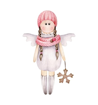 Świąteczna dziewczyna anioła
