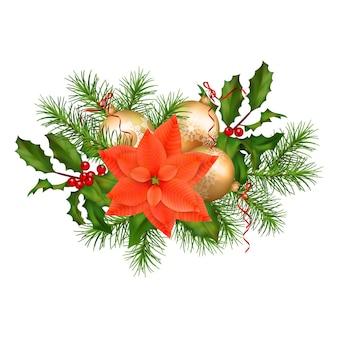 Świąteczna girlanda z dekoracjami
