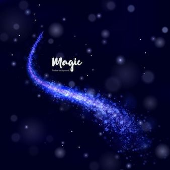 Świąteczna jasnoniebieska świąteczna kometa