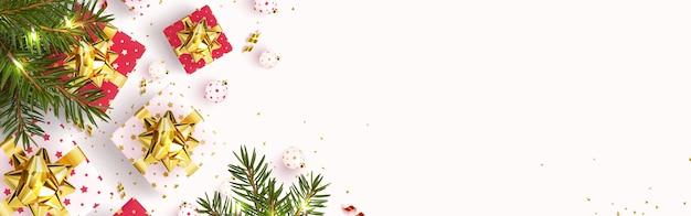 Świąteczna kartka z życzeniami z nowego roku i wesołych świąt.