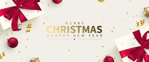 Świąteczna kartka z życzeniami z nowego roku i wesołych świąt