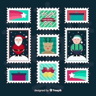 Świąteczna kolekcja płaskich znaczków
