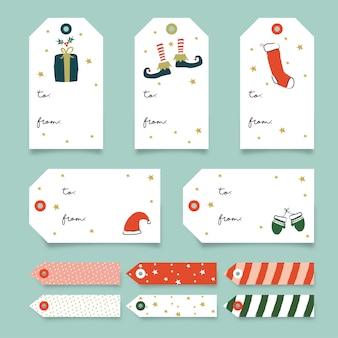 Świąteczna kolekcja tagów prezentowych