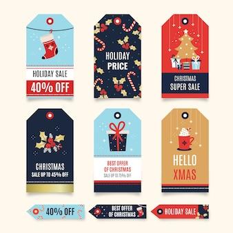 Świąteczna kolekcja tagów sprzedaży