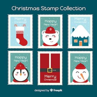 Świąteczna kolekcja znaczków