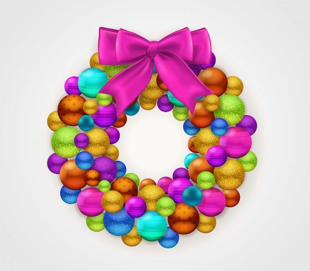 Świąteczna okrągła girlanda