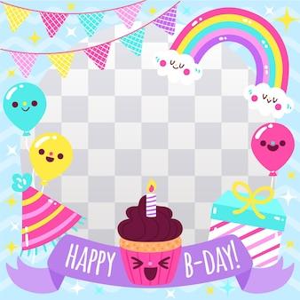 Świąteczna ramka urodzinowa na facebooku