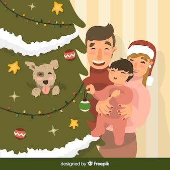 Świąteczna rodzina