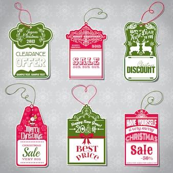 Świąteczna sprzedaż tagi do projektowania i notatnik