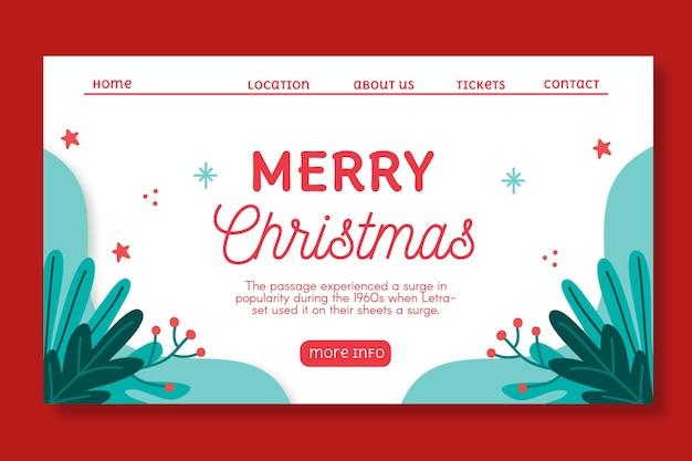 Świąteczna strona docelowa sprzedaży