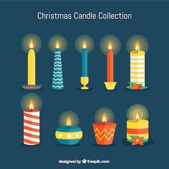 Świąteczna świeca kolekcji