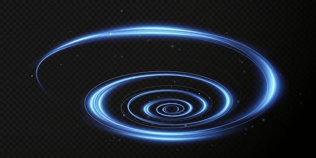 Świąteczna świecąca wirówka neonowy kolor świecący niebieski podium lejek sprzedażowy magiczna linia świetlna spirala png