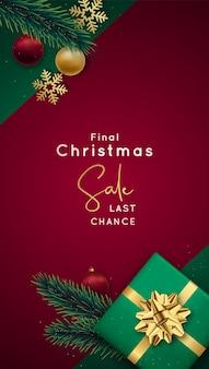 Świąteczna wyprzedaż broszura reklamowa