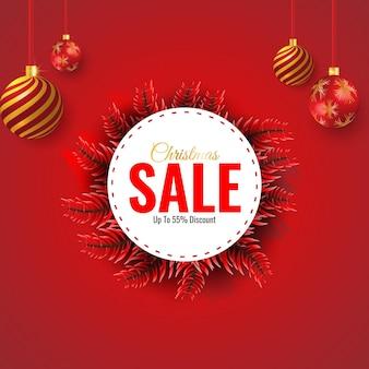 Świąteczna wyprzedaż i baner rabatowy oraz szablon oferty