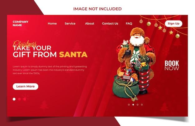 Świąteczna wyprzedaż i szablon projektu strony docelowej i baner internetowy