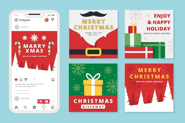 Świąteczna wyprzedaż instagram post set