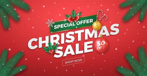 Świąteczna wyprzedaż oferta specjalna banner