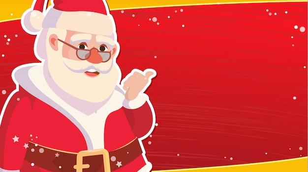 Świąteczna wyprzedaż szablon transparent z klasycznym boże narodzenie święty mikołaj