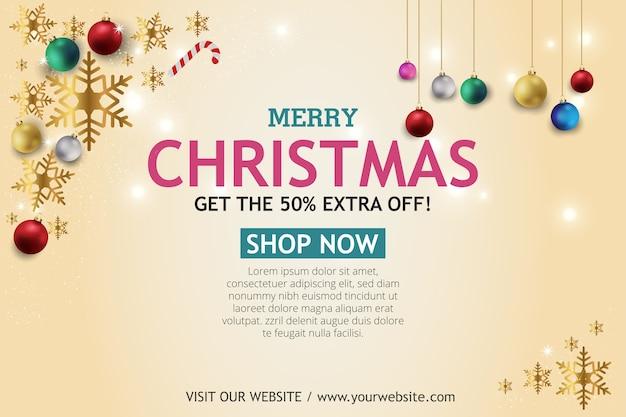 Świąteczna wyprzedaż transparent na jasnym tle. wyślij sms-a do sklepu merry christmas.
