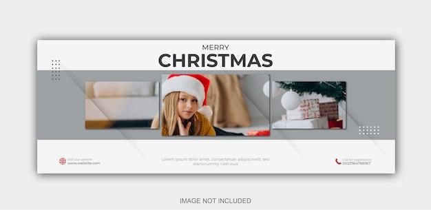 Świąteczna wyprzedaż w mediach społecznościowych post baner internetowy