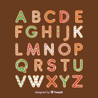 Świąteczne alfabet pierniki