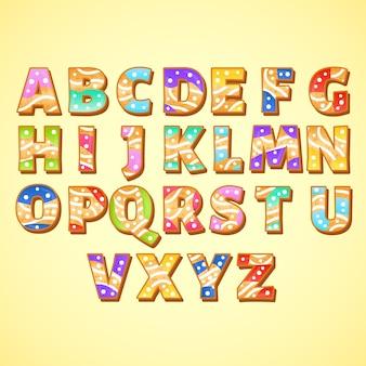 Świąteczne alfabet z piernika