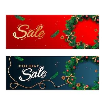 Świąteczne banery sprzedaży