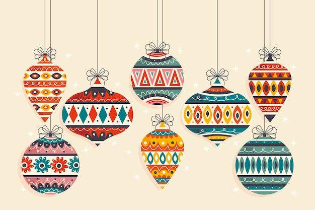 Świąteczne dekoracje w płaskiej konstrukcji