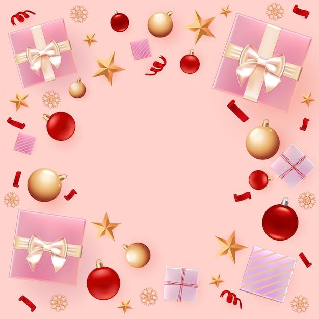 Świąteczne dekoracje w tle