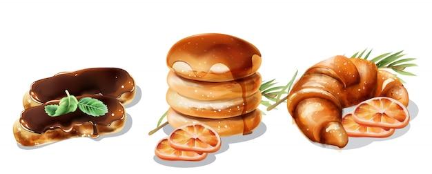 Świąteczne desery z naleśnikami, rogalikami i eklerami
