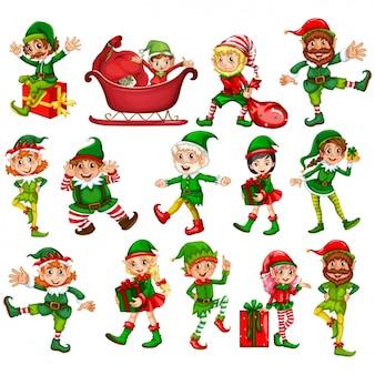 Świąteczne elfs kolekcji