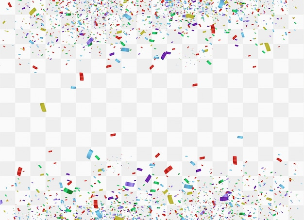Świąteczne kolorowe konfetti. świętowanie