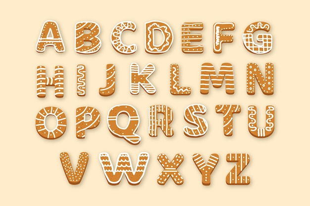 Świąteczne opakowanie alfabetu z piernika